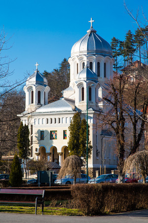 ortodox: Central park Church in Brasov, Romania