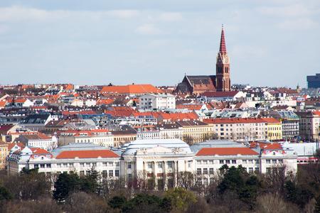 gloriette: Vienna panorama view from Gloriette Stock Photo