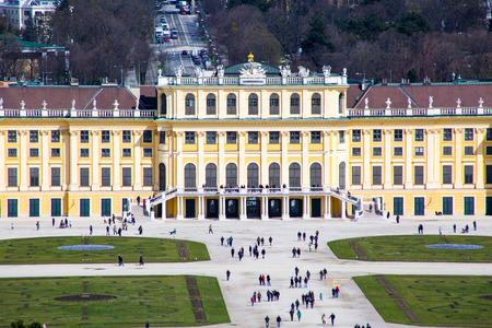 gloriette: Schonbrunn Palace view from Gloriette, Vienna, Austria Editorial