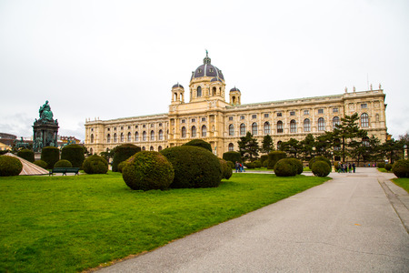 Fine Arts Museum and statue depicting Empress Maria Theresa in Vienna