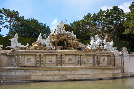 neptune: The Neptune Fountain at the Schonbrunn Palace, Vienna, Austria