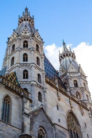 stephansplatz: Partial view of St. Stephens Cathedral in Stephansplatz, Vienna, Austria
