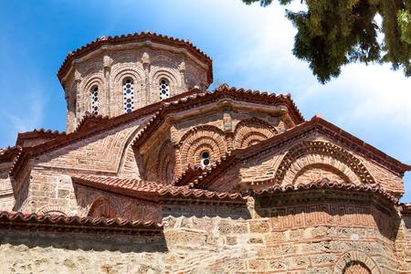 kalambaka: Partial view of the church at Great Meteoro Monastery in Kalambaka, Trikkala, Greece