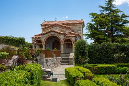 Part of the territory of Agios Stefanos St Stefan Monastery on Meteora rocks, Trikkala, Greece Standard-Bild
