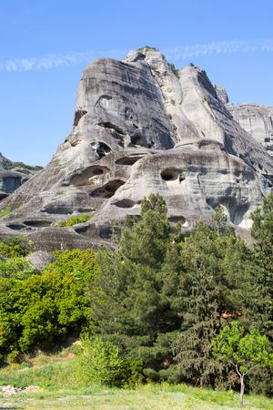 thessaly: Meteora mountains, Thessaly, Greece.  UNESCO World Heritage List Stock Photo