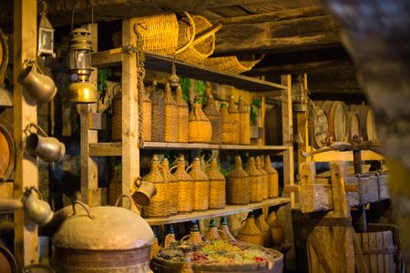 The old wine cellar in monastery in Meteora, Greece
