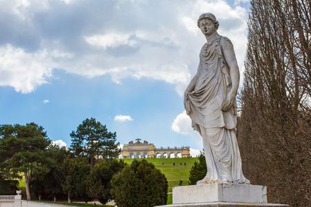 gloriette: Statue from garden of Schonbrunn palace and Gloriette