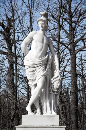 schonbrunn palace: Statue from gardens of Schonbrunn palace in spring