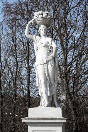schonbrunn palace: Statue from gardens of Schonbrunn palace in spring