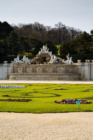 neptuno: La fuente de Neptuno en el palacio de Schonbrunn, Viena, Austria