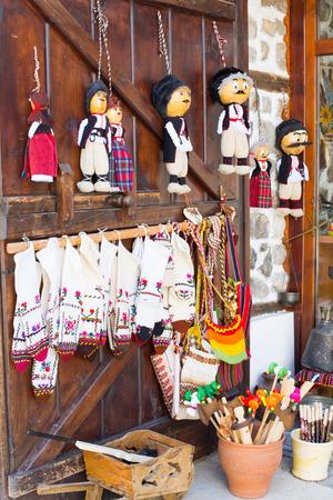 bulgarian: bulgarian souvenirs on the wooden door
