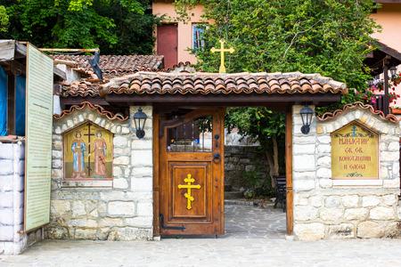 helena: Entrance door of of the Monastery St. St. Constantine and Helena near Varna, Bulgaria