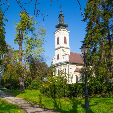 quarantine: Quarantine Chapel of St. Roch Zemun, Serbia Stock Photo