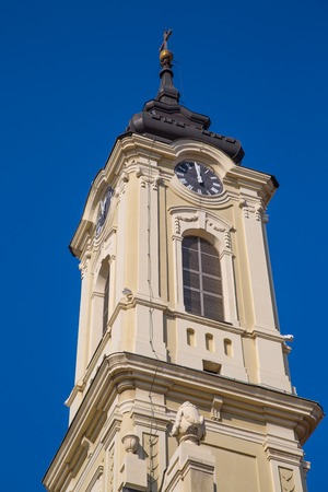 the old church: Tower of The old church in  Zemun, Belgrade, Serbia Stock Photo