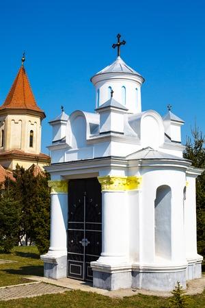 'saint nicholas': Small religious building at terriroty of Saint Nicholas Church in Brasov , Transilvania, Romania Stock Photo