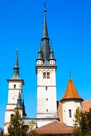 'saint nicholas': Towers of Saint Nicholas Church in Brasov, Transilvania, Romania