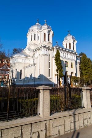 ortodox: Central park Ortodox Church in Brasov, Transylvania, Romania
