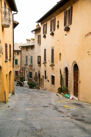 montepulciano: Tuscany, street view of medival town Montepulciano at Tuscany,  Italy Stock Photo
