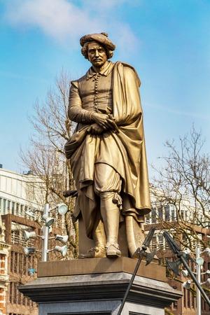 rembrandt: Statue Of Rembrandt in Rembrandtplein, Amsterdam, Netherlands