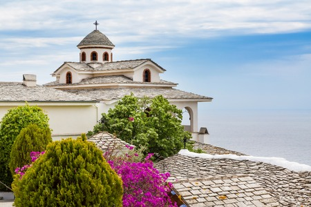 thassos: View of Monastery of Archangel Michael, Thassos island, Greece