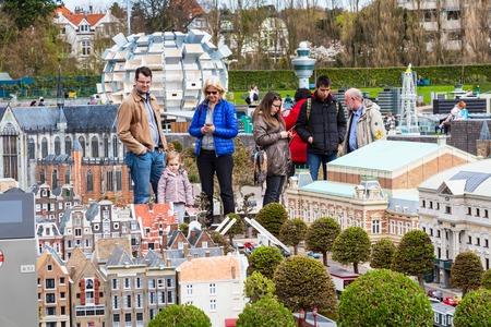 tourist attraction: Hague, Netherlands - April 8, 2016: Madurodam, Holland miniature park and tourist attraction in Hague, Netherlands
