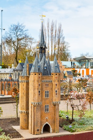 the hague: Hague, Netherlands - April 8, 2016: Madurodam, Holland miniature park and tourist attraction in Hague, Netherlands