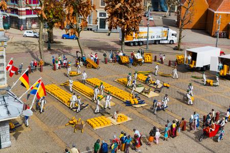 'the hague': Hague, Netherlands - April 8, 2016: Madurodam, Holland miniature park and tourist attraction in Hague, Netherlands