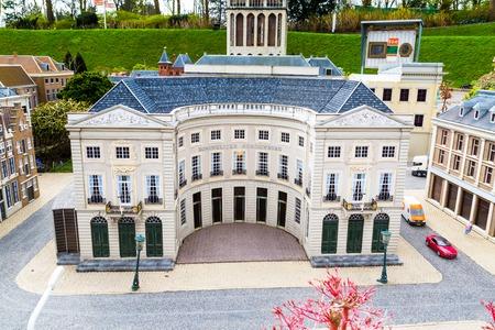 Madurodam, Holland miniature park and tourist attraction in Hague, Netherlands Stock Photo