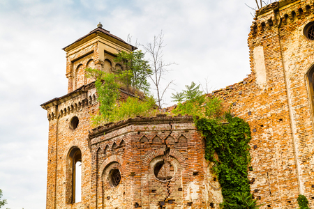 The old ruined synagogue building in Vidin, Bulgaria Stock Photo