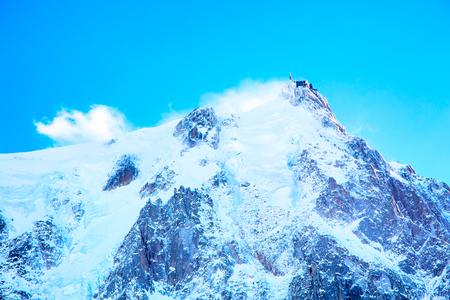midi: The mountain top station of the Aiguille du Midi in Chamonix mont blanc, France Stock Photo