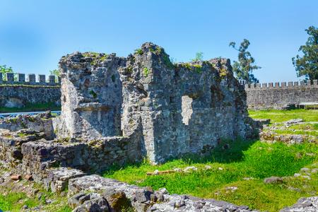 오래 된 중세 byzantine Gonio Aphsaros 요새 Batumi, 조지아 근처