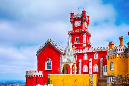 Sintra, Portugal famous portuguese landmark, Pena Palace or Palacio da Pena