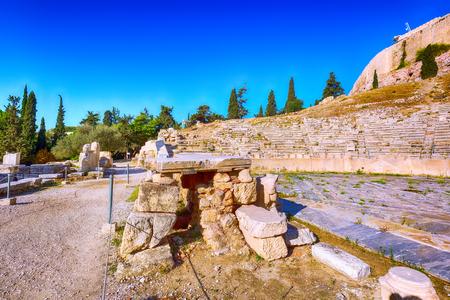 famous landmark Acropolis of Athens, Greece old ruins