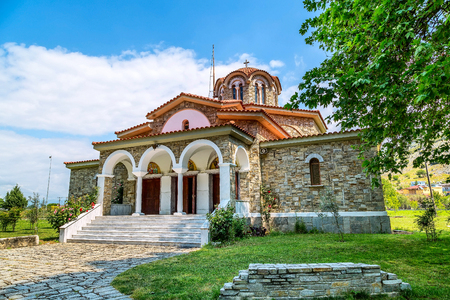 St. Lydia first European Christian, baptistry church in Lydia, Philippi, Greece Stock Photo