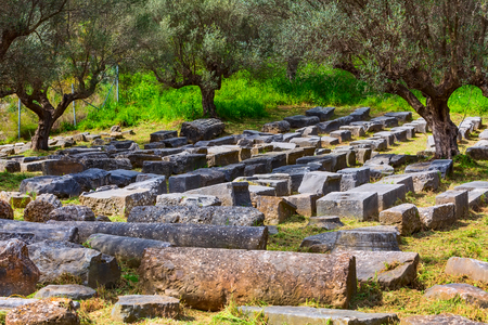 Sparta, Greece Ancient ruins remains in Peloponnese
