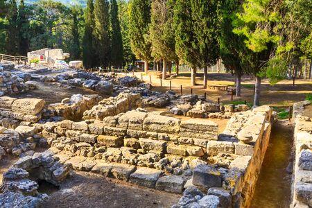 Knossos, Greece Crete landmark, ruins of Minoan Palace