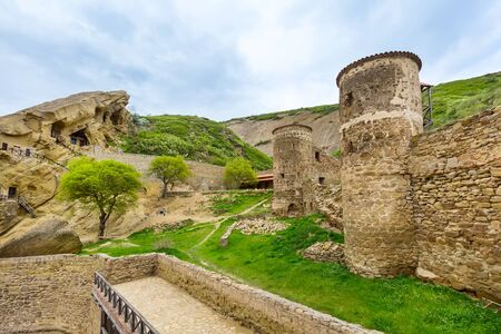 David Gareja or davit gareji cave monastery complex in Georgia, Kakheti region