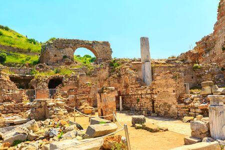 Old ruins of Ephesus or Efes famous site in Turkey