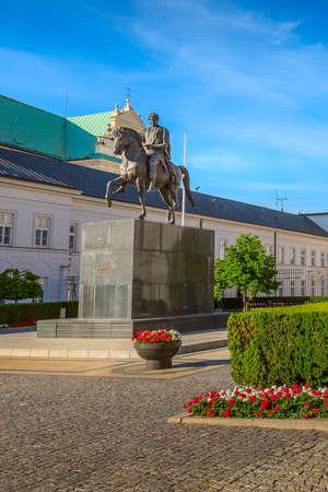 Monument to Prince Jozef Poniatowski near Presidential Palace, Warsaw, Poland