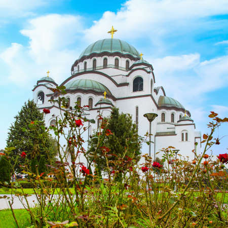 The Cathedral of Saint Sava in Belgrade, Serbia, largest Serbian Orthodox church