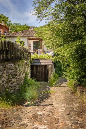 Lovech, Bulgaria Old town street houses, Varosha