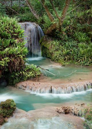 Krushuna Waterfalls panorama, Lovech, Bulgaria Standard-Bild