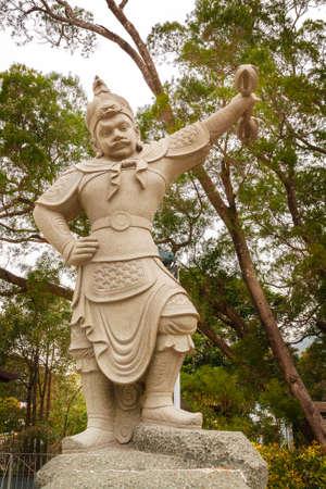 Hong Kong Lantau Island, statue of General Andira Standard-Bild