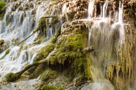 Spring view, Krushuna waterfalls, Bulgaria Standard-Bild