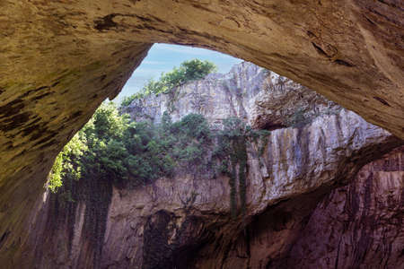 Devetashka Cave in Bulgaria, inside view