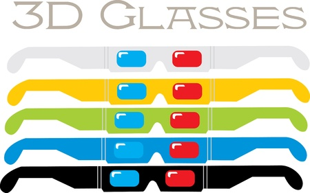 immersion: 3D Glasses  Illustration