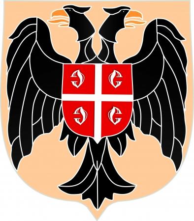 Serbian coat of arms Vector