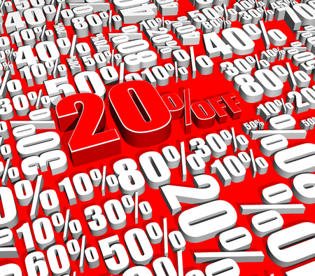 Sale 20% Off on various percentages Stock Photo - 26012213