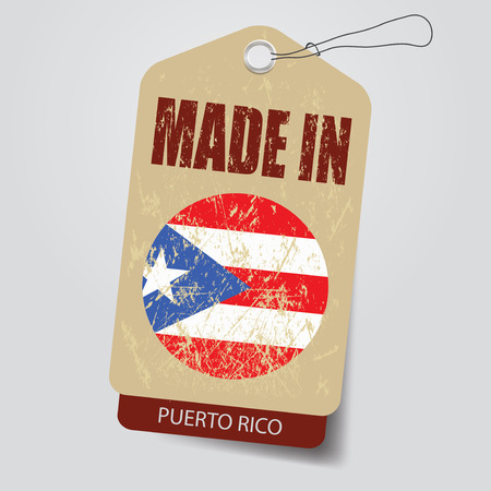 Made in Puerto Rico . Tag .