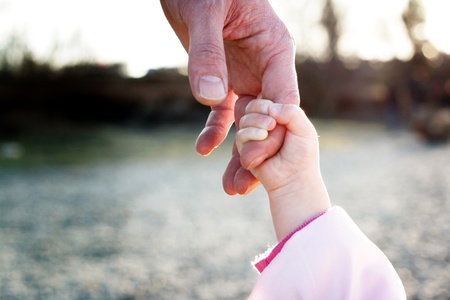 father daughter: father and her daughters hand